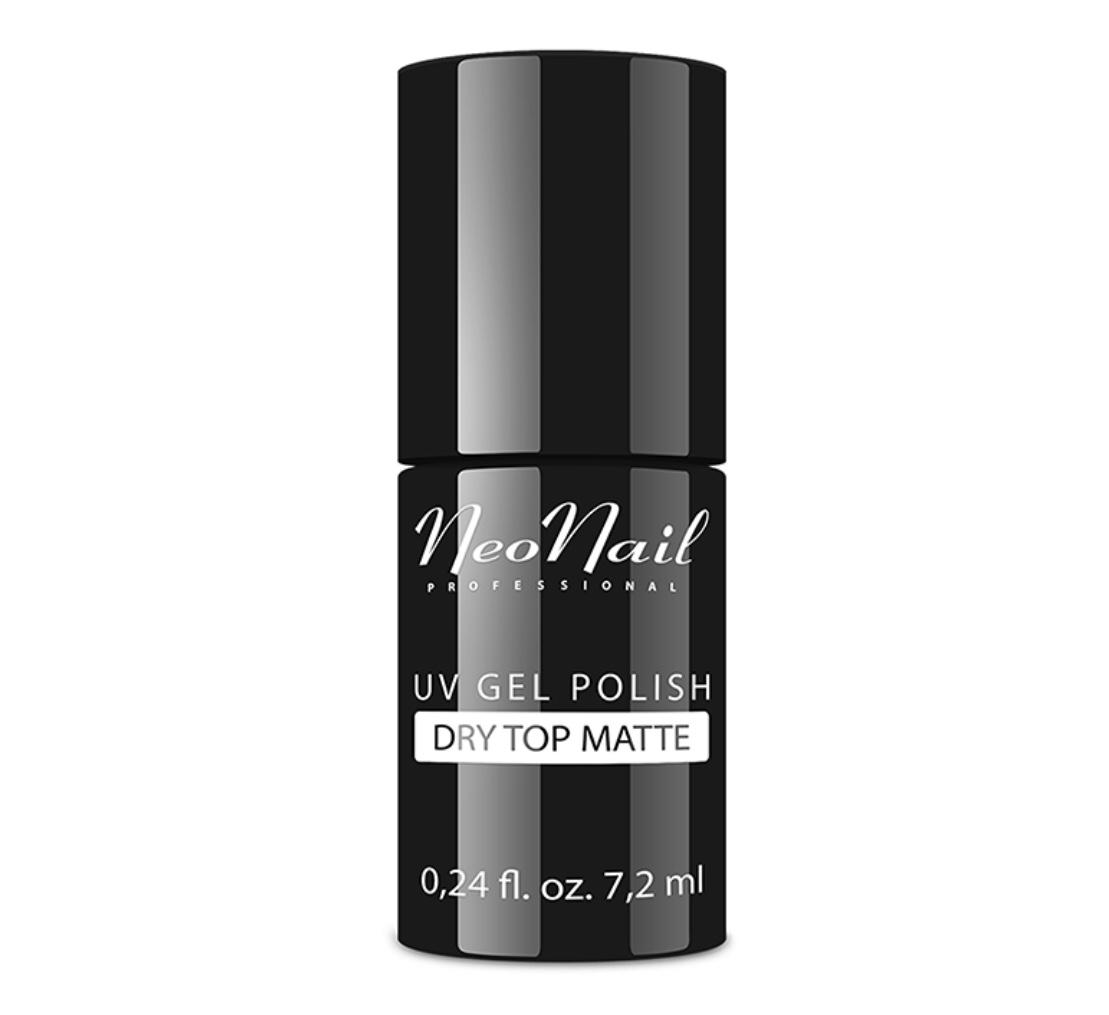 Gelio lako viršutinis sluoksnis Dry Top Matte 7,2 ml
