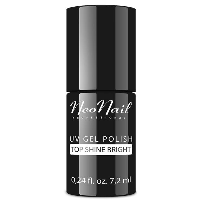 Gelio lako viršutinis sluoksnis Top Shine Bright 7,2 ml